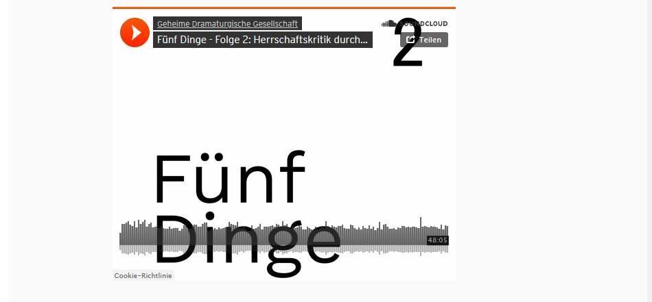"""philosophike zu Gast im """"Fünf Dinge"""" Podcast der Geheimen Dramaturgischen Gesellschaft"""
